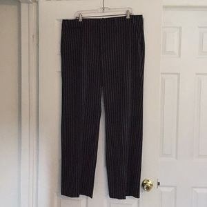 Ralph Lauren Black Pinstriped Pants - Size 16